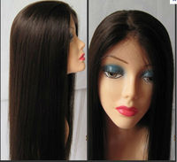 Beauty style silky straight very long hair wigs/ Brazilian virgin realistic hairline full lace wig,accept escrow