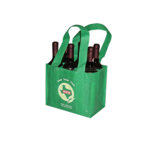 Non woven fabric wine gift bags wine tote bag wholesale 6 bottle wine bag