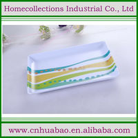 Rectangular melamine fruit tray with custom design decal printing