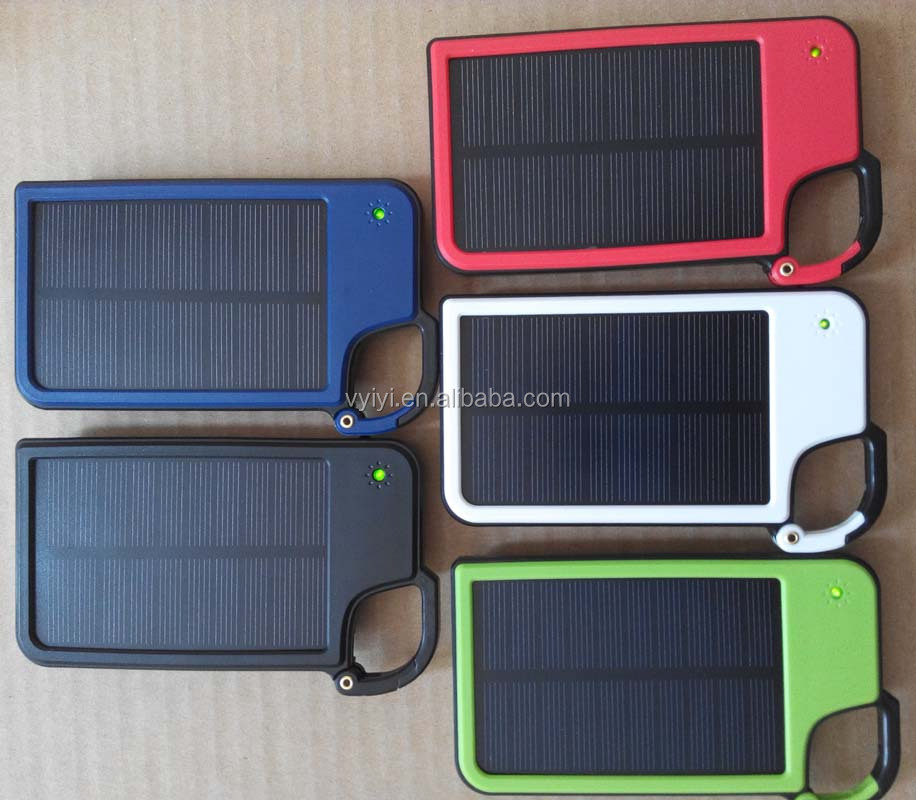 (High Quality) 2016 New Key Chain Solar Power Bank 5050mAh with LED Light, Mobile Solar Charger 5050mAh for Christmas/Gift