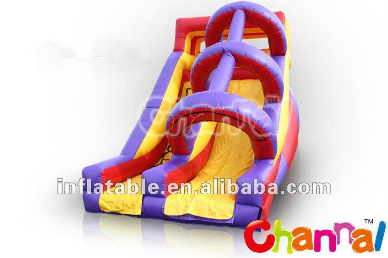 high speed pvc commercial grade inflatable water slide with arch