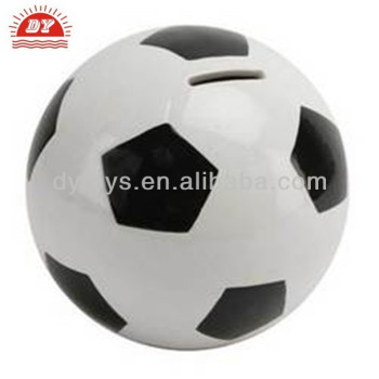OEM Kids football shape plastic piggy bank