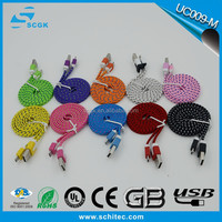 2016 waved cable & wholesale colorful micro usb cable for Android and IOS devices
