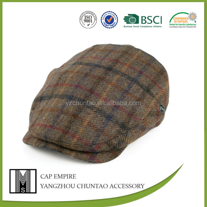 BSCI Audit wool and hot tweed flat cap