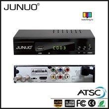 JUNUO STB factory OEM high quality free to air mpeg4 atsc set top box 1080p hd receiver