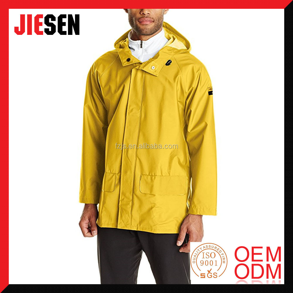 Totally Waterproof Heavy Duty Workwear Men's PVC Rain Jacket
