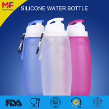 Sports easy drink foldable bpa free silicone water bottle 250ml