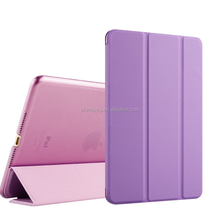 Shockproof smart Ultra thin pu leather Joy color case for Ipad mini4 for ipad cover with stand