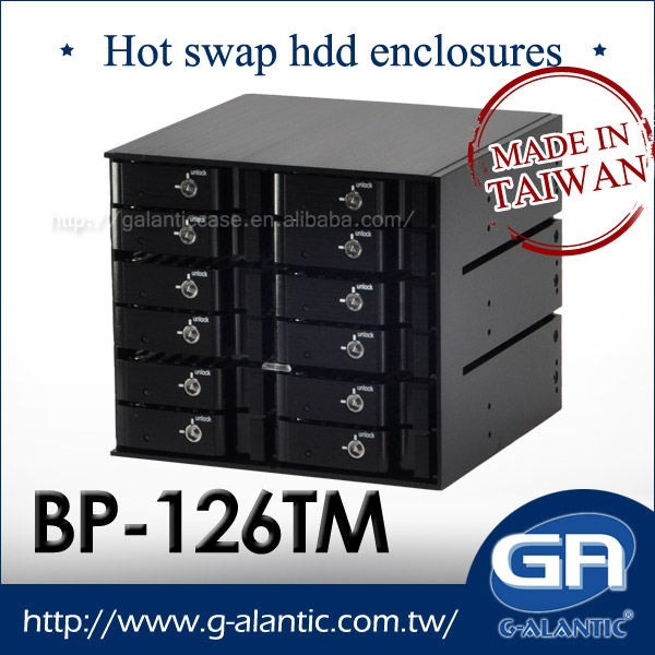BP - 126TM Internal Hot Swap HDD Enclosure 12 Bays Hard Disk Drive