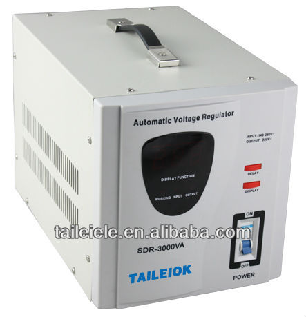 SDR Series fully automatic relay type ac voltage regulator and stabilizerSDR-3000VA