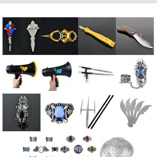 Custom Hand Made Props for Japanese Anime Cosplay Props, Games & Movies TV