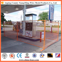 Heavy gauge welded mesh 10' wide by 6' high hot dipped galvanized fence panels for construction sites