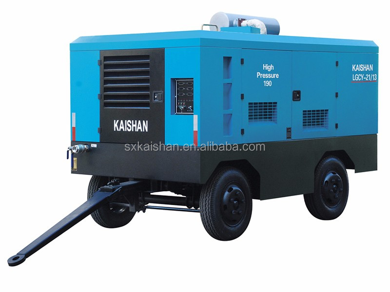 kaishan diesel portable air compressor for sandblasting machine