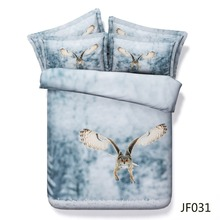 Bed linen Siberian Eagle Owl 3d bed sheet