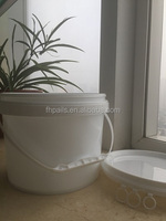 5L pp plastic bucket/barrel/pail with lid and steel handle