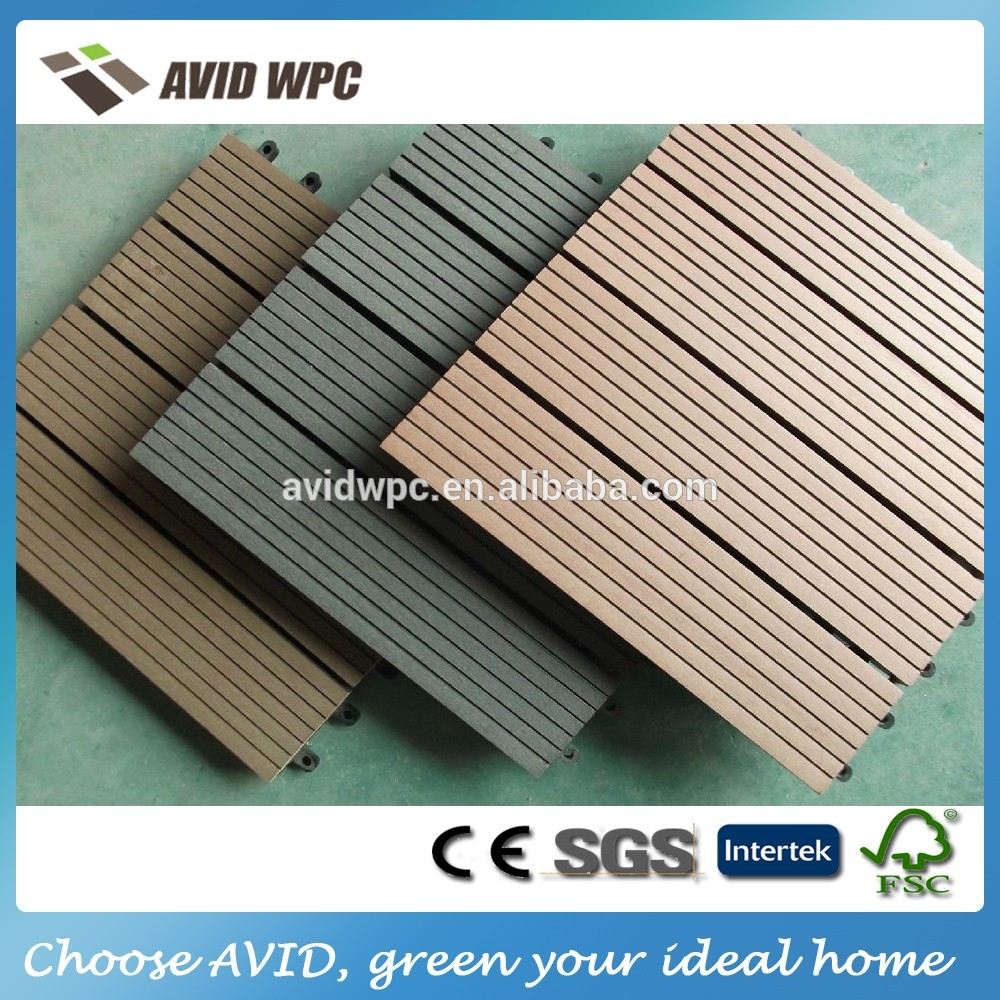 2016 outdoor garden WPC interlocking DIY decking tiles
