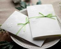 W1116 Garden Themed Embossed Flowers Tri-Fold Wedding Invitation