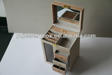 New design Pu jewelry case with mirror