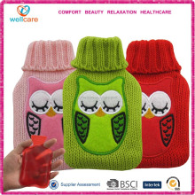 Cute owl knitted hand warmer cover / hot pack