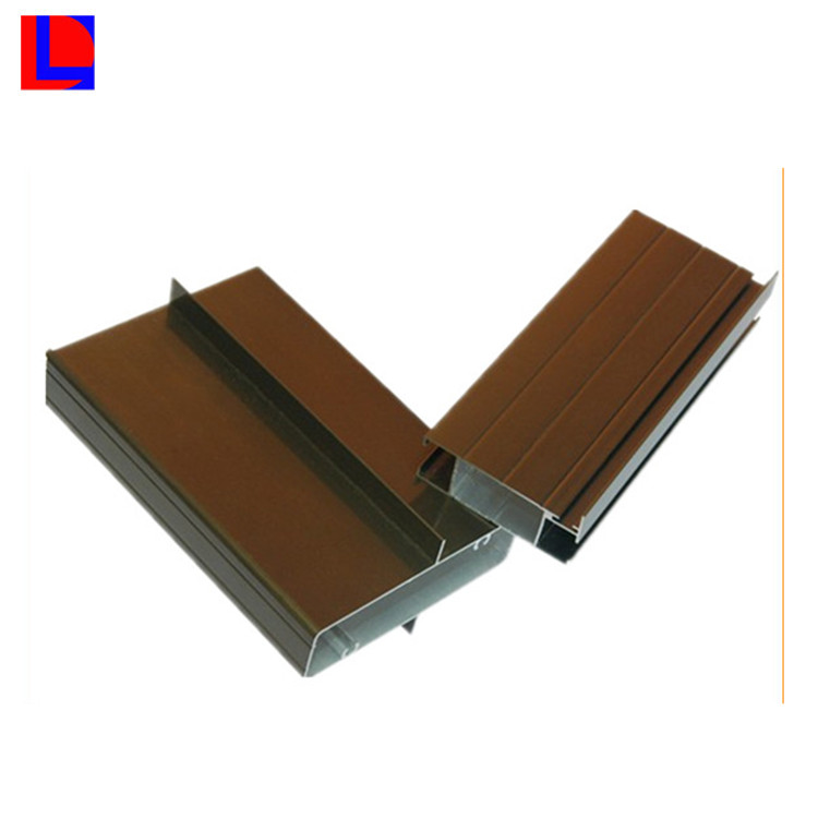 Brown anodized polished aluminum sheet aluminum extrusion for window and door