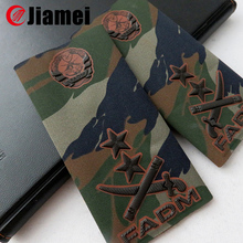 Army military uniform clothing camouflage rubber epaulette for sale