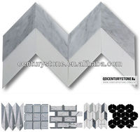 2014 Commercial And Residential Project Mosaic Tile Grey And White Home Marble Floor Design