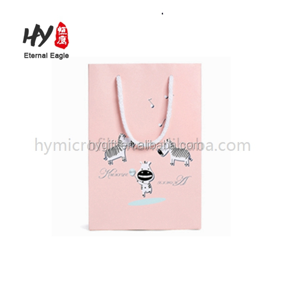 Silver printing mark length handle paper tote bag