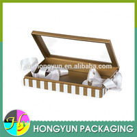 Black Rigid Gourmet Window Boxes ,food boxes with pvc window