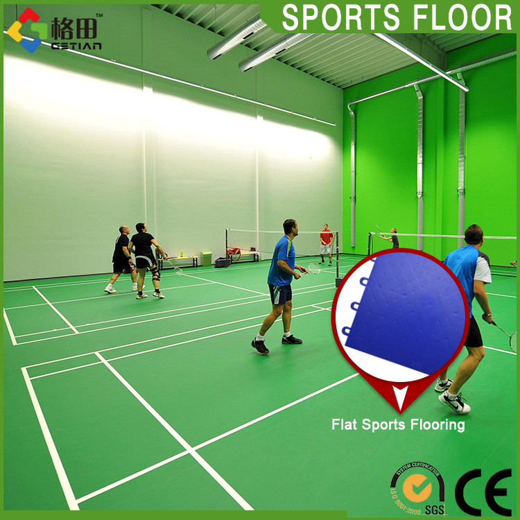 Factory directly supply pp interlock standard size indoor badminton court