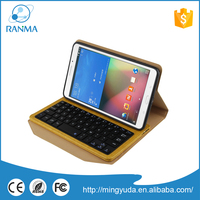 Hot Selling Wholesale wireless Tab 4 8.0 bluetooth keyboard case for Samsung