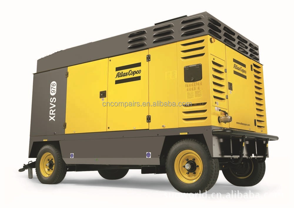 Atlas Copco high pressure portable screw air compressors for mining and drilling 30bar