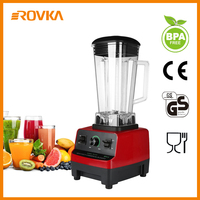 Blender Red Multi Speed Electric Blenders Commercial Professional Blender Food Processor Mixer for Ice, Smoothies, Vegetable