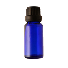 Blue Glass Essential Oil Bottle With Aluminum Dropper