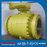 A216 WCB Cast Steel Flanged End Trunnion Ball Valve