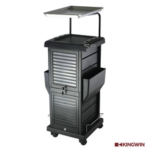 Kingwin black Lockable Beauty Salon Trolley
