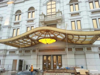 Customized large Span high Strength steel structure canopy