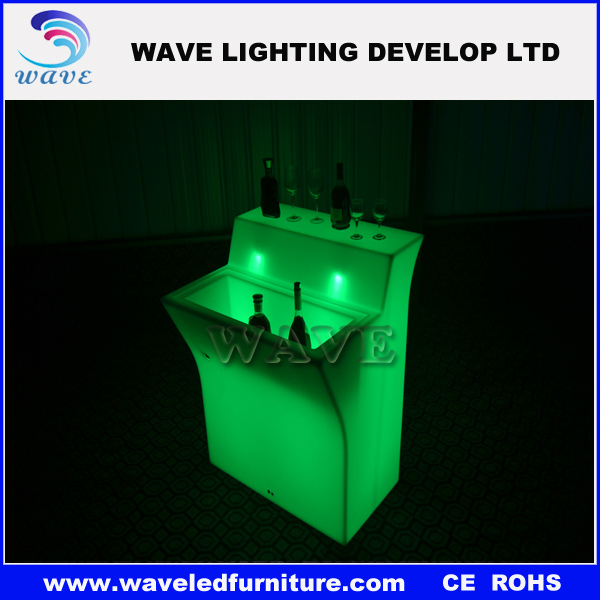 Waterproof popular led bar counter tops manufacturer club mini led bar led bar counters