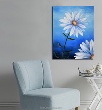 Bedroom Decoration Wall Picture Daisies Flower Oil Painting on Canvas