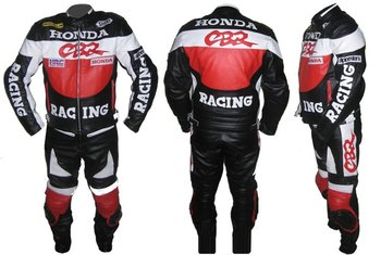 "New Stylish ""CBR"" Brand Motorbike Cow Hide Leather Suit Any Size & Color"