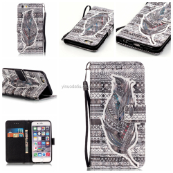 360 Degree Full Protect Premium Top Layer Leather Case for iphone 6, Leather Flip Cover Case For 4.7 inch phone
