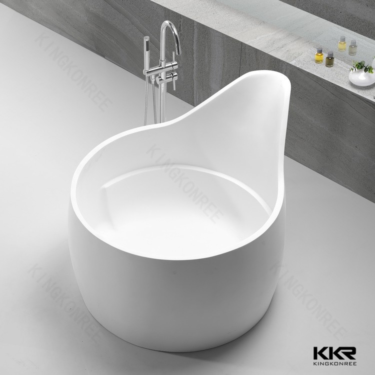 white free standing bath natural stone outdoor soaking tub