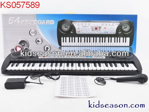 KIDS MUSICAL INSTRUMENT 54-KEY BOARD ELECTRONIC PIANO KS057589