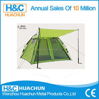 HC-CT014 one room four door auto camping tent/4 person pop up camping tent