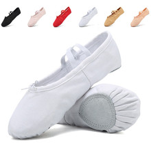 Alibaba Hot Sale Comfortable Breathable Canvas White Ballet Dancing Shoes