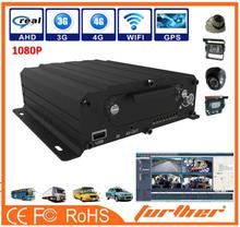 4 channels Smaller 1080P hard drive and SD Card Digital Video Camera Recorder integrate with LED advertisement panel