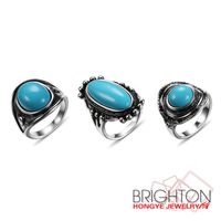 Simple Resin Turquoise Rings JC-4869A-3340