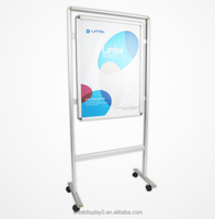 movable walking billboard picture frame floor stand