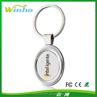 Customizable Oval N-dome Key Tags
