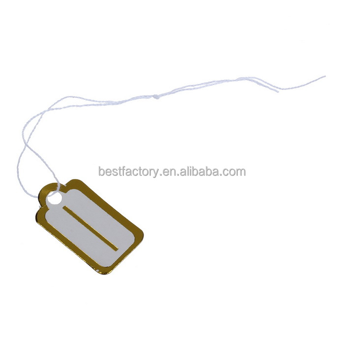 customized adhesive promotion tearproof rfid anti theft jewelry barcode labels