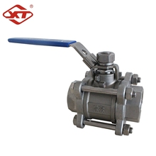 Stainless Steel 3PC Welded 1000 WOG Manual Operated Ball Valve